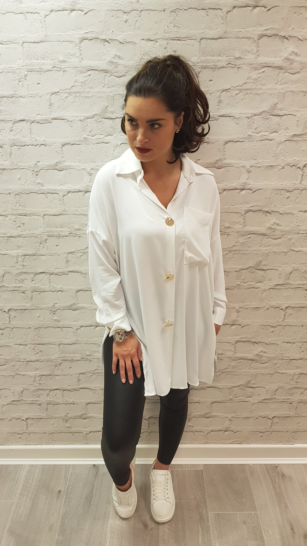 Hattie Gold Button Shirt