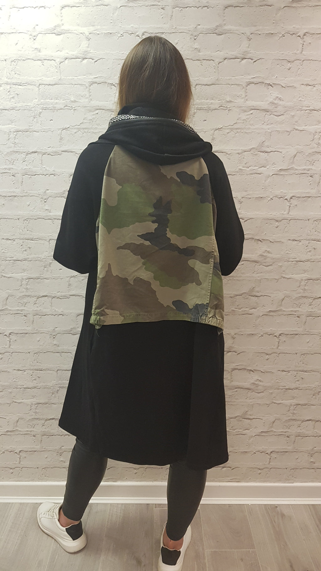 Myla Camo Print Back Jacket