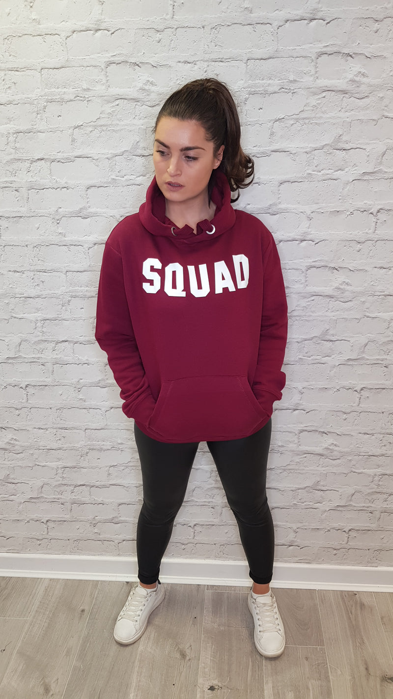 SQUAD Classic Hoodie - Available in a Burgundy Hoodie