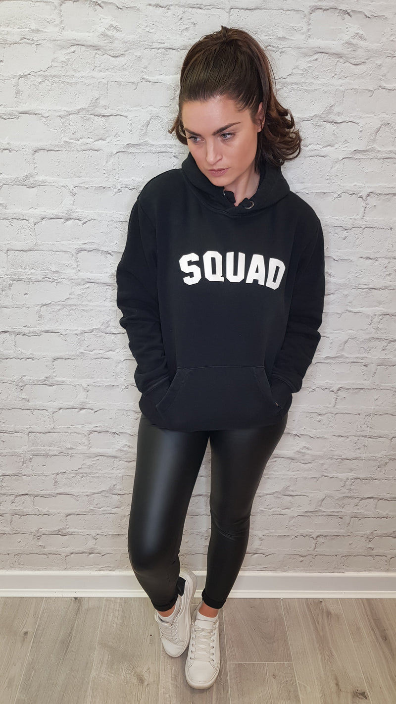 SQUAD Classic Hoodie - Available in a Black Hoodie