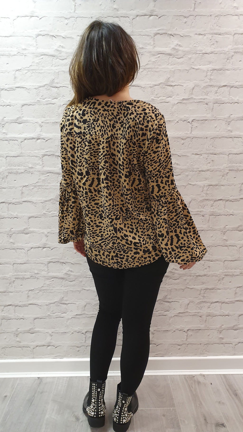 Mariah Leopard Print Shirt (size medium)