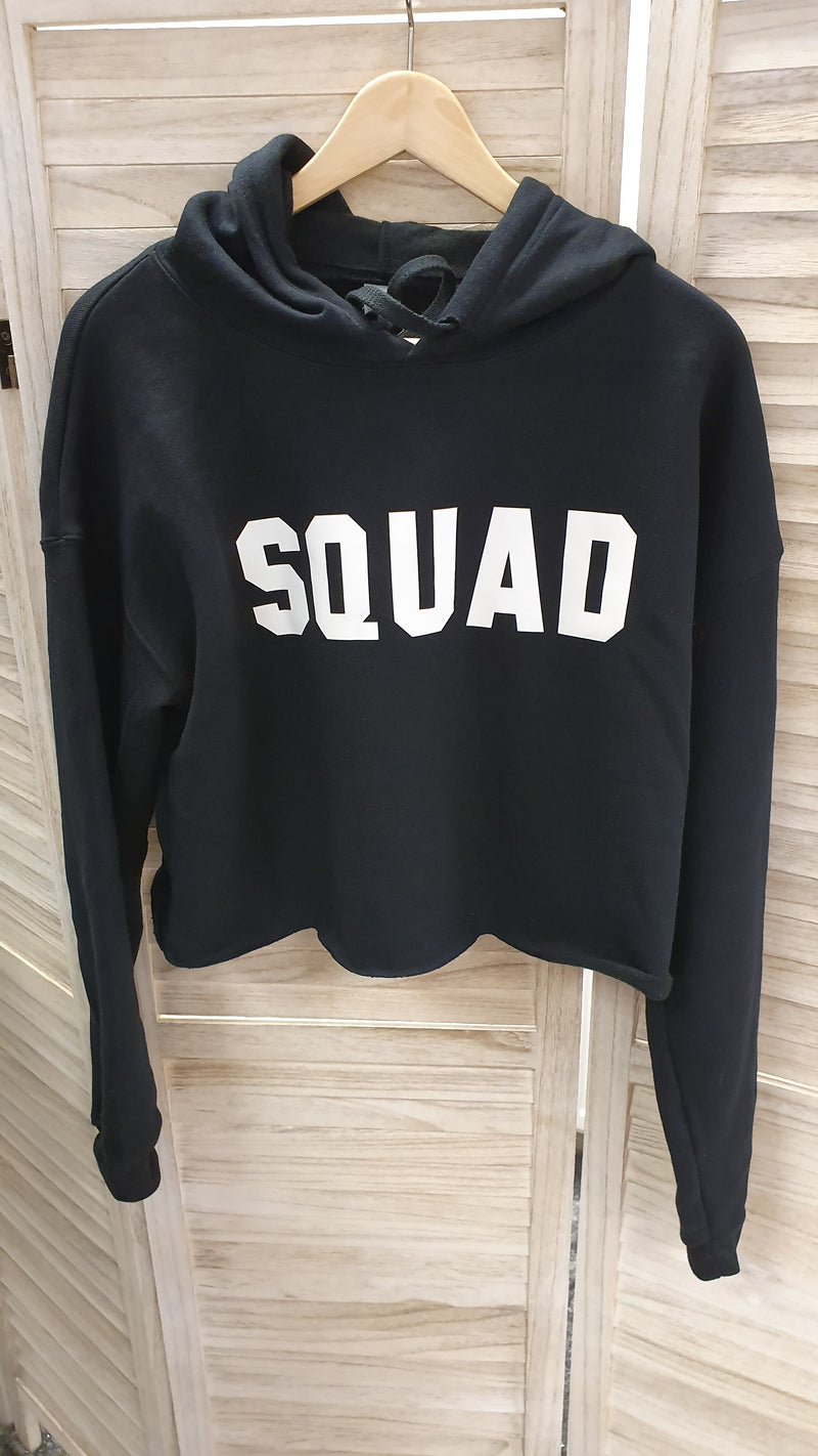 Squad Cropped Hoodie Styled By SOMO - Black