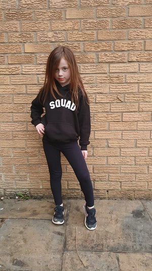 SQUAD Mini Classic Hoodie - Available in Black, White and Grey Hoodies