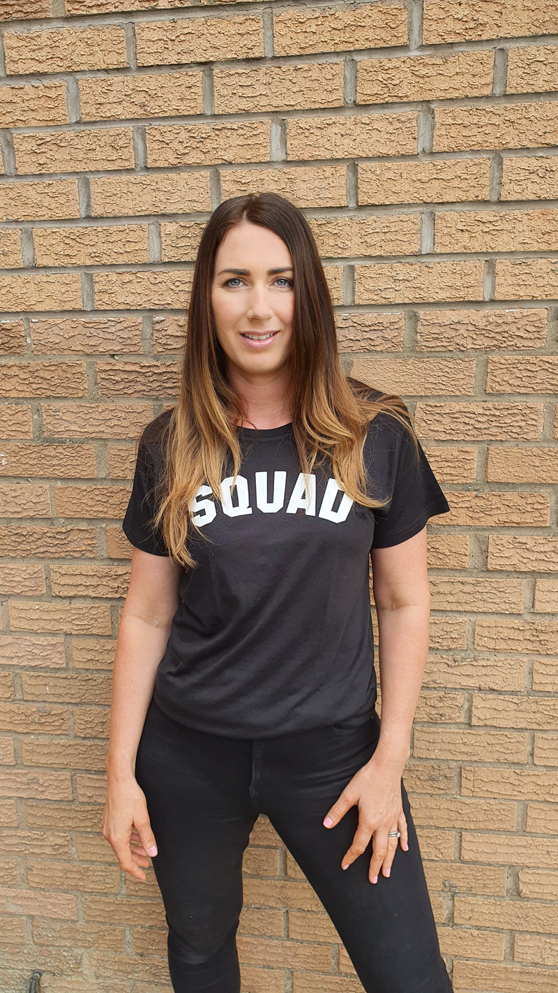SQUAD Crew Neck - Available in Black Tee