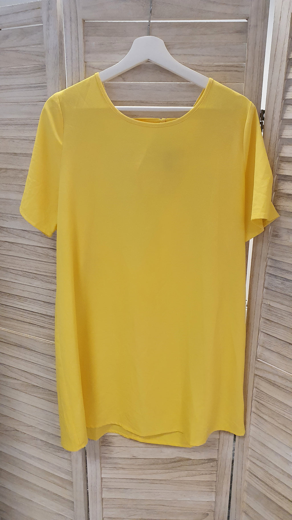 Tula Backless Beach Dress - Yellow size medium