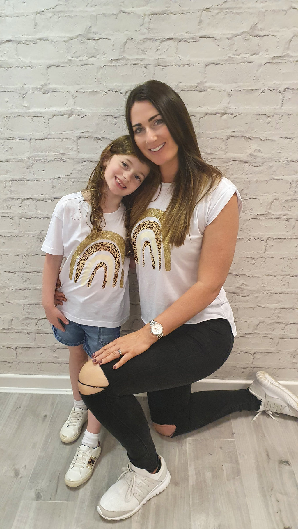 Gold Rainbow MINI Tee - Available in Black and White Tees