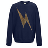 Leopard Lightning Bolt Sweatshirt - French Navy