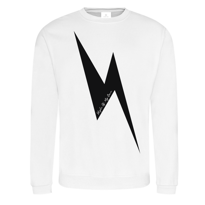 Lightening Bolt Sweatshirt - Available in White