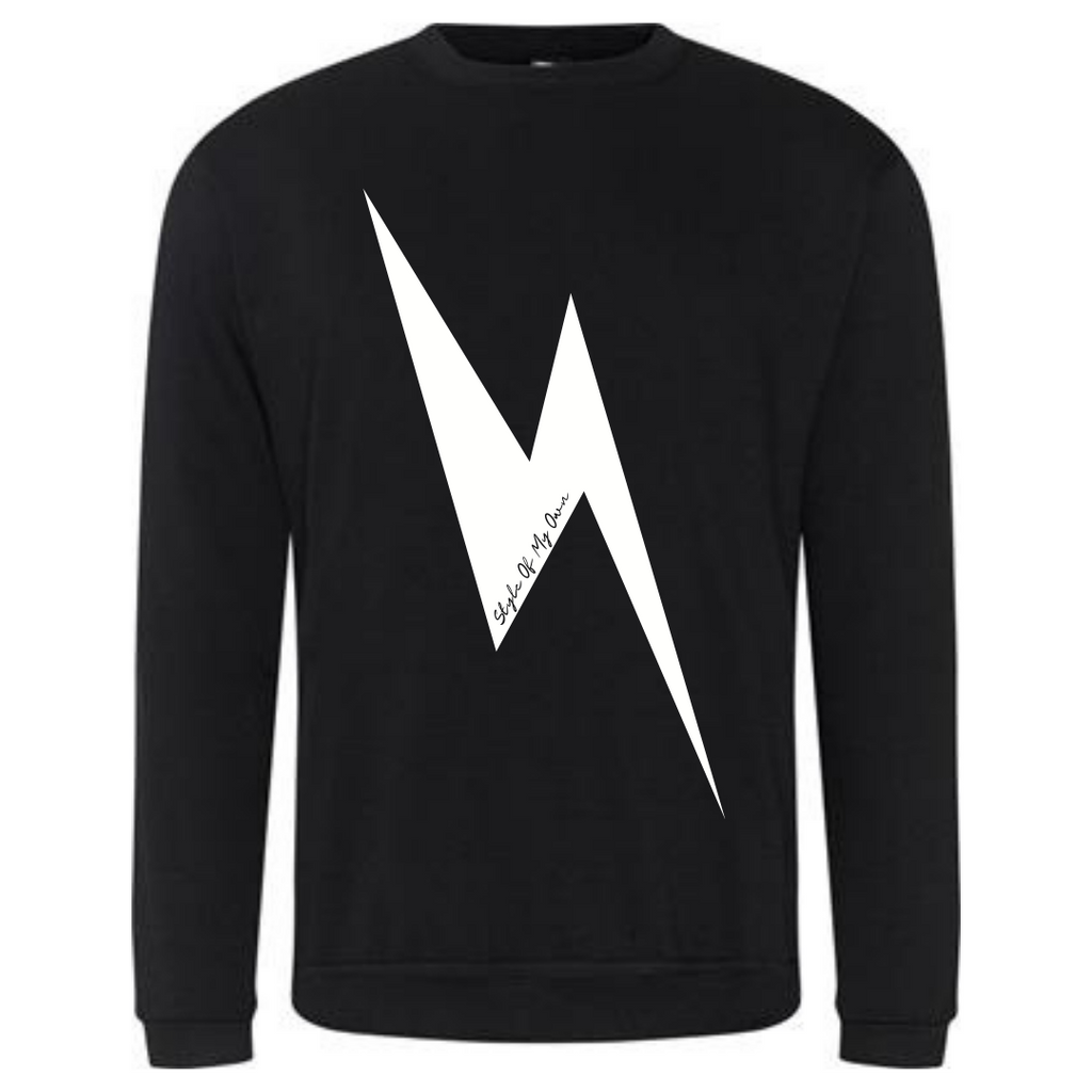 Lightening Bolt Sweatshirt - Available in Black
