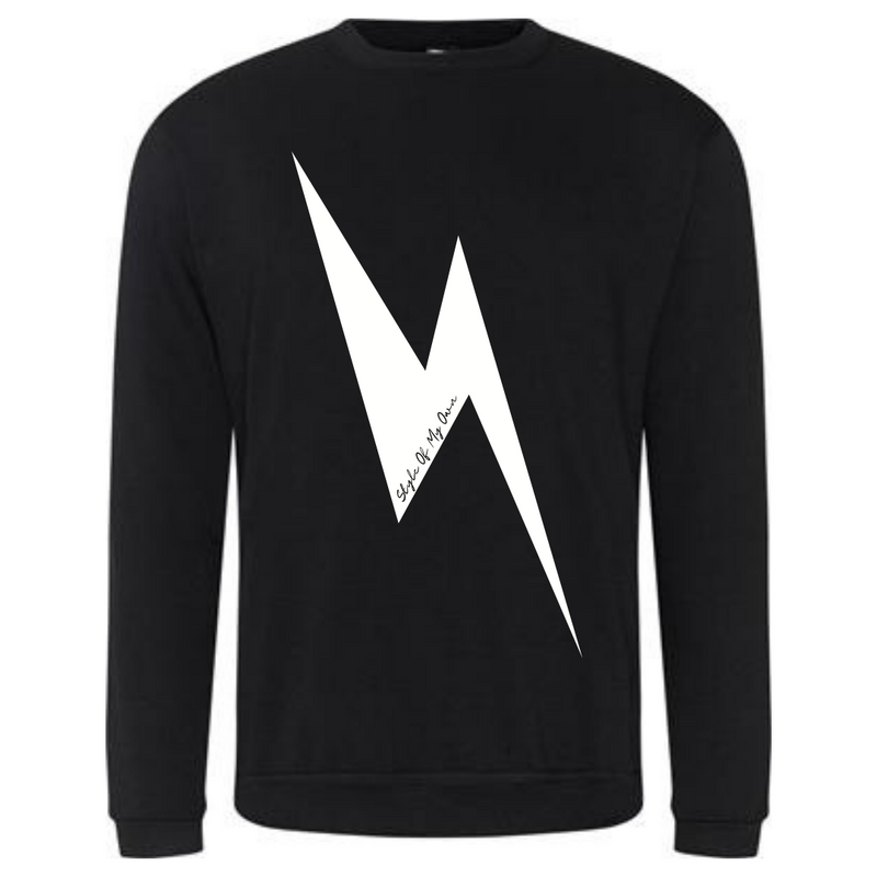 Lightning Bolt Sweatshirt - Available in Black