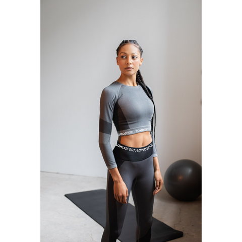SOMO Sport Seamless TRAINING Top - Available in Black, Blue & Grey