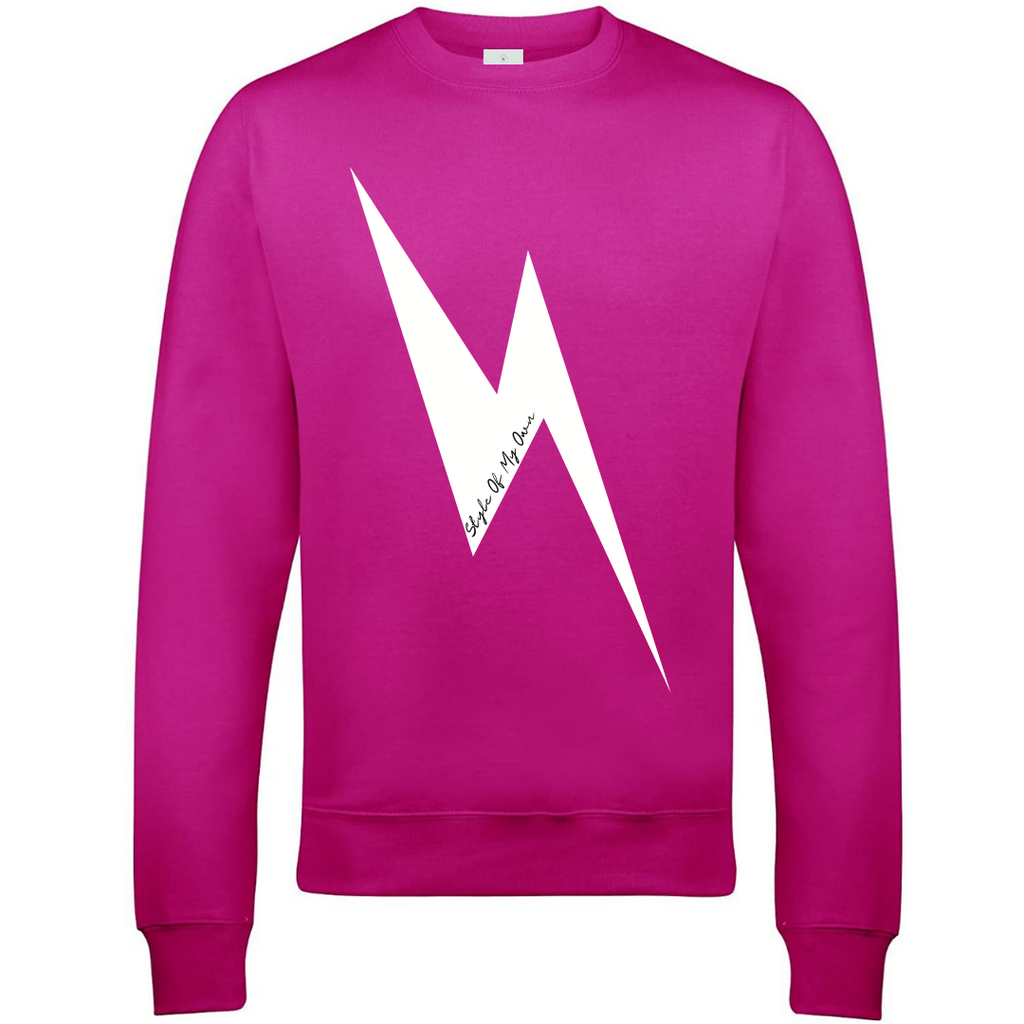 Lightening Bolt Sweatshirt - Available in Hot Pink