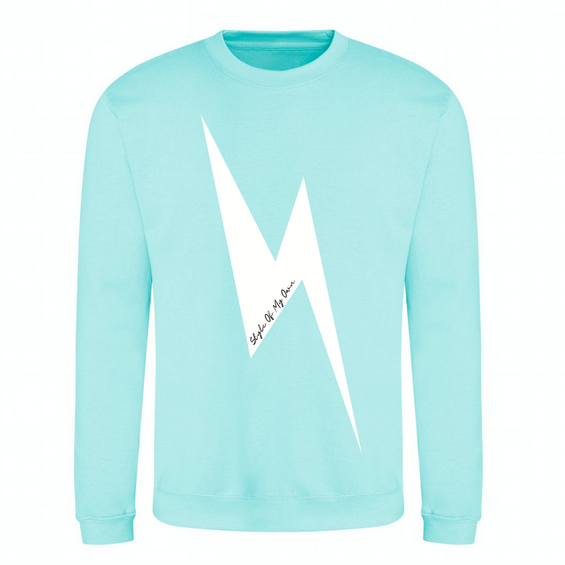 Lightning Bolt Sweatshirt - Available in Peppermint