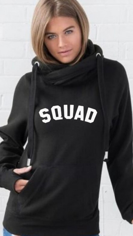SOMO Sport Cowl Neck Longline Hoodie - Available in Black