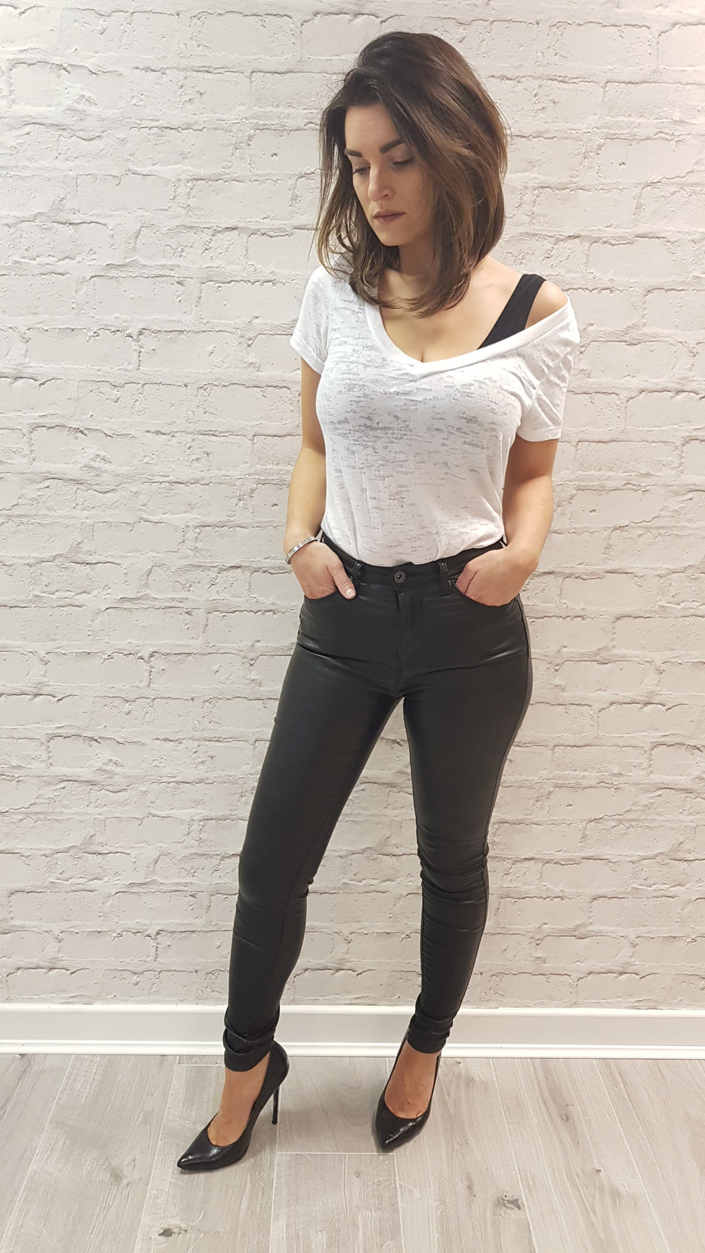 Anya Wax Skinny Jeans Size 8 only