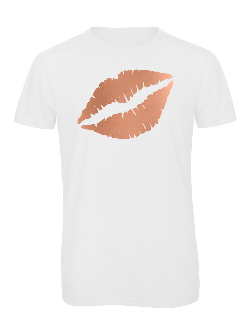 Gem Lips Crew Neck Rose Gold - Available in Black and White Tees