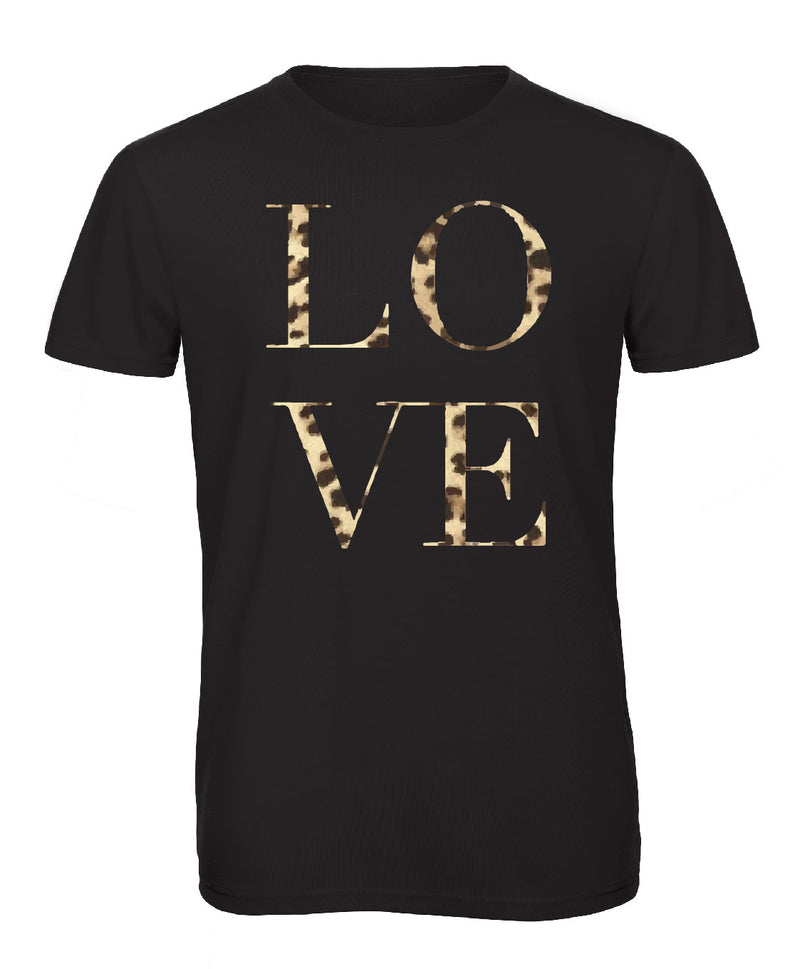 Leopard Love Crew Neck - Available in Black and White Tees