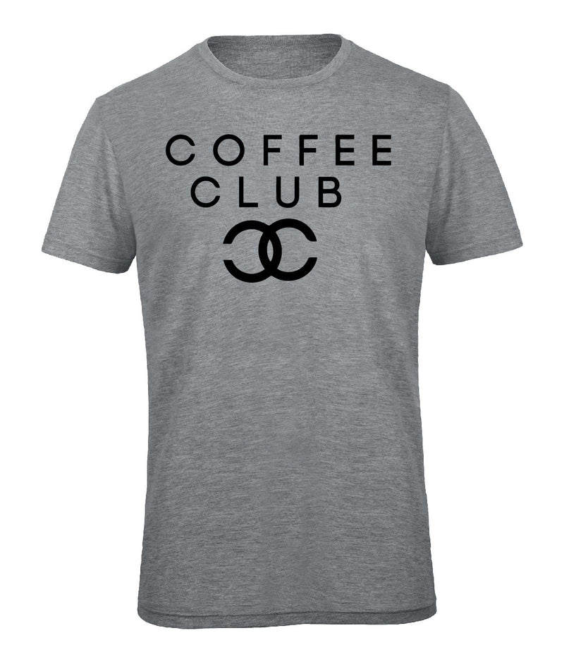 Slogan Tee Coffee Club - Grey