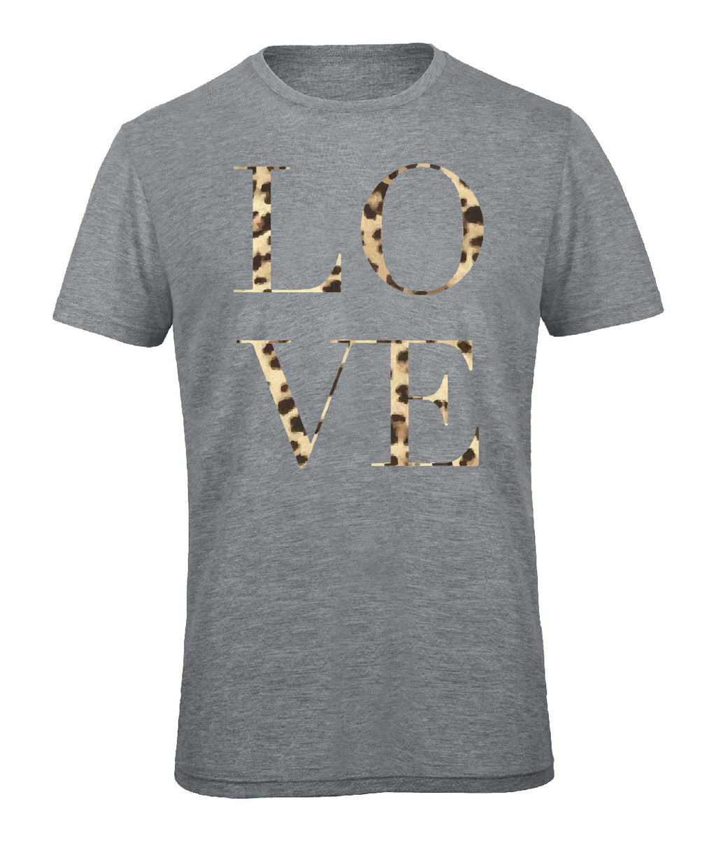Leopard Love Crew Neck - Available in Grey Tee