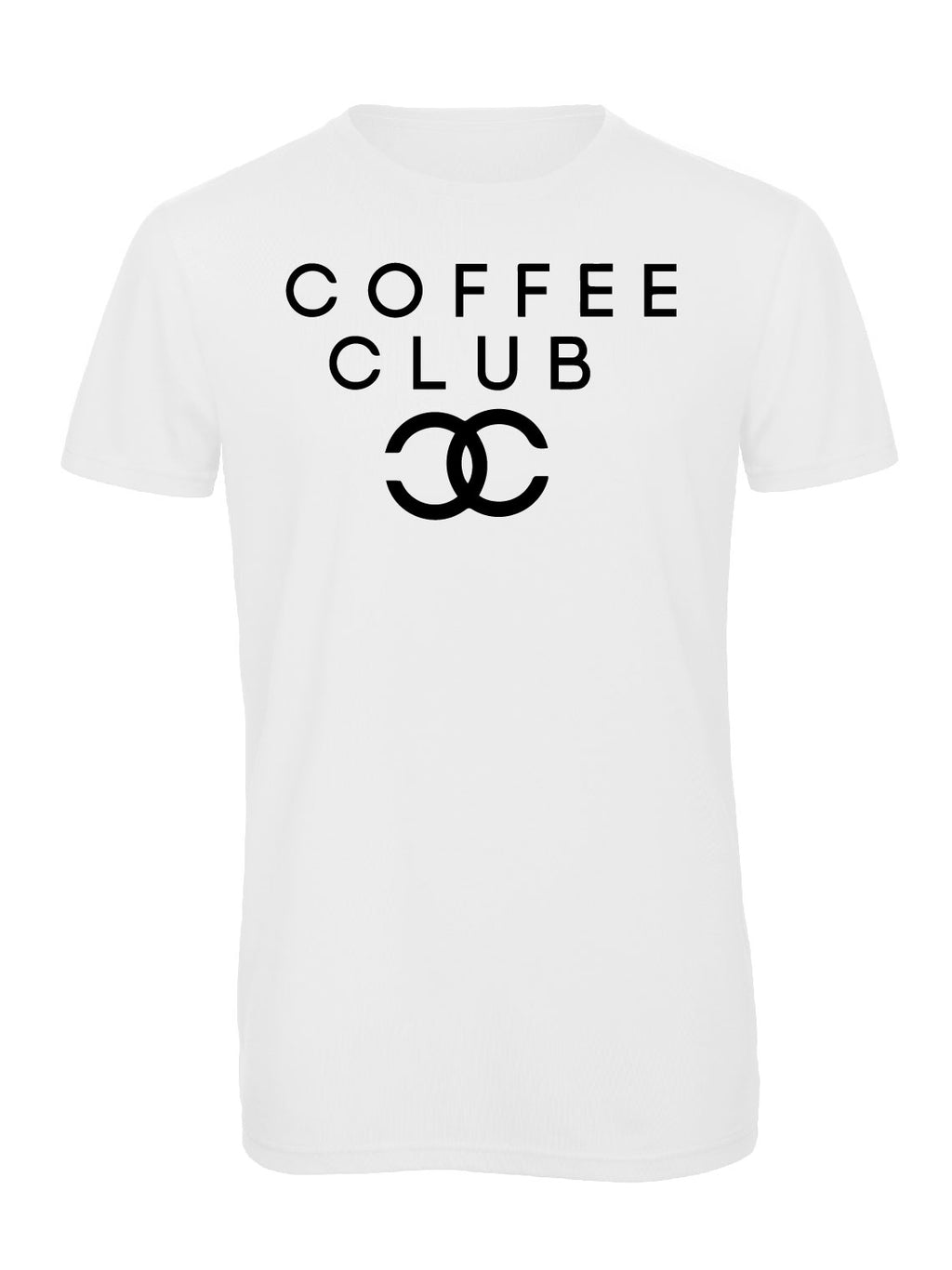 Slogan Tee Coffee Club - White