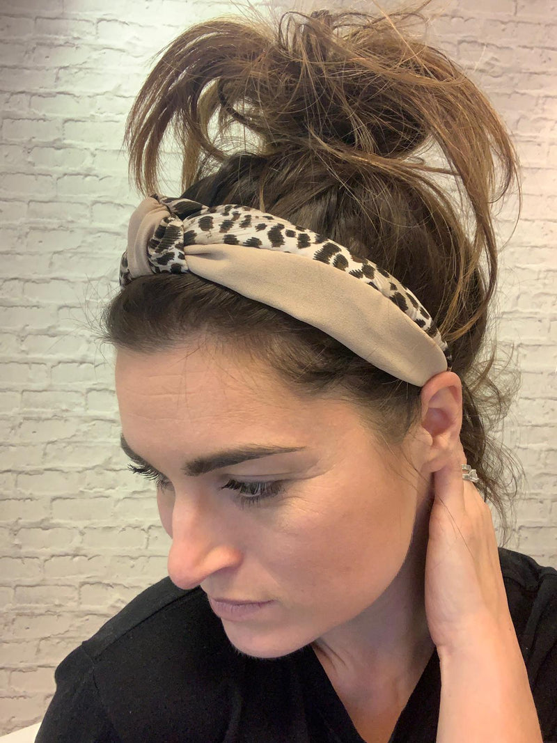 Lottie Leopard Head Band - Small