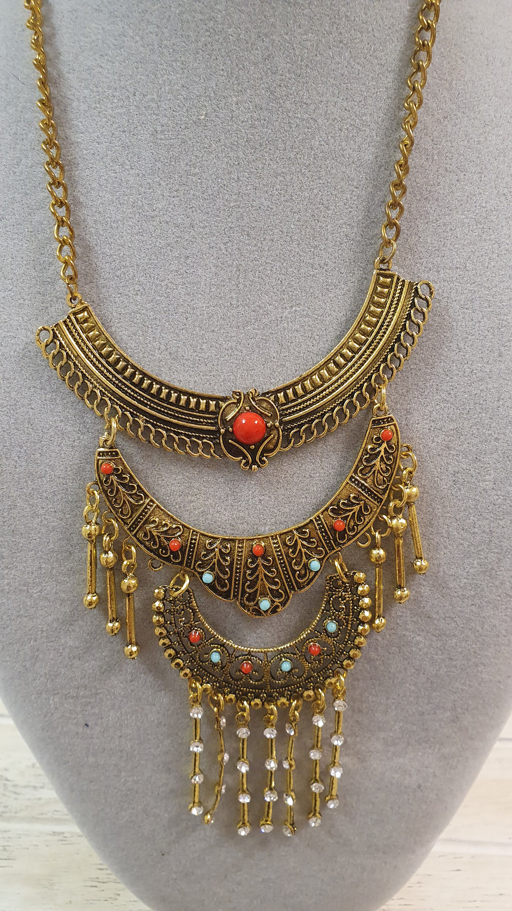 Boho Chic Gold Necklace