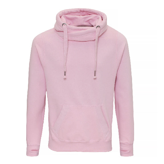 Coffee Club Cowl Neck Longline Hoodie - Available in Black, Nude, Pink, Grey & Navy Hoodies