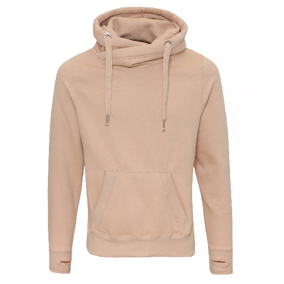 Lashes Cowl Neck Longline Hoodie - Available in Black, Nude, Pink, Grey & Navy Hoodies