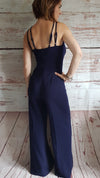 Kora Split Leg Navy Jumpsuit