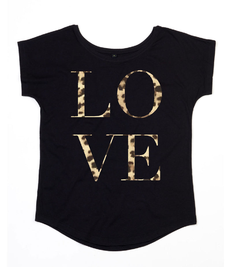 Leopard Love Scoop Neck - Available in Black & White Tees