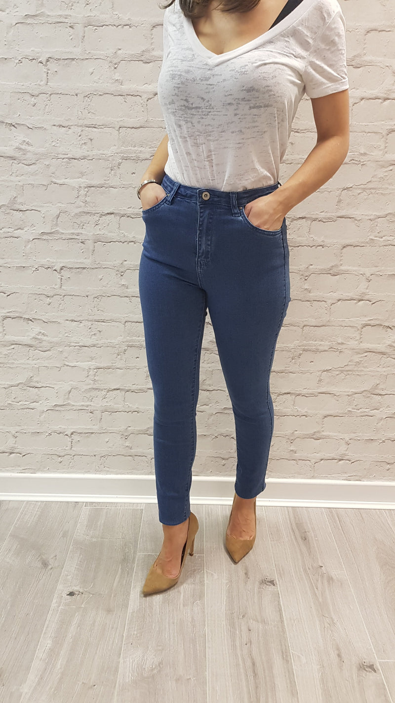 Maddie Blue High Waisted Jeans