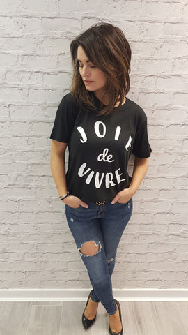 Slogan Gem Tee - Black