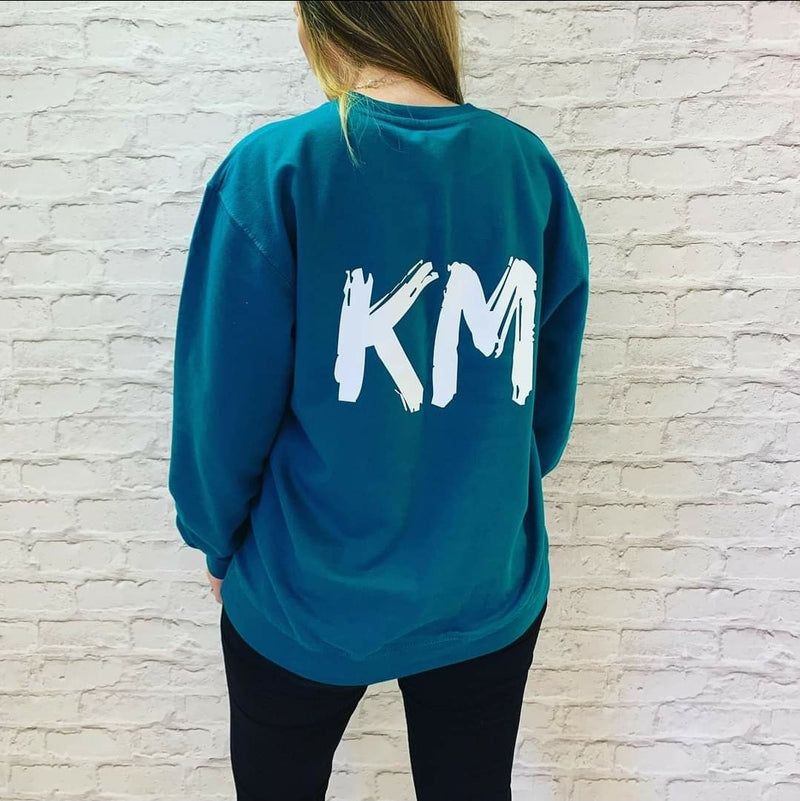 Personalised Sweatshirt - Available in Teal Green