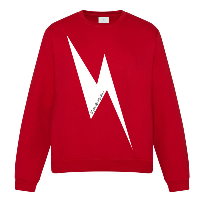 Lightning Bolt Sweatshirt - Available in Red