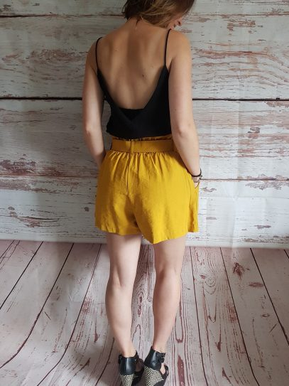 Dolly Mustard Belted Shorts - SIZE XS & S