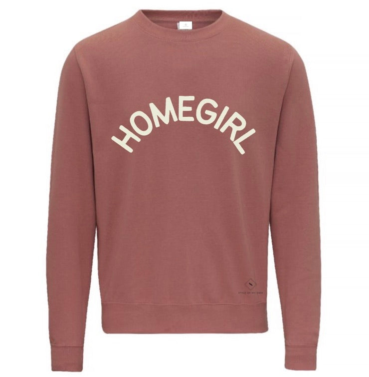Home Girl Sweatshirt - Available in Dusty Pink