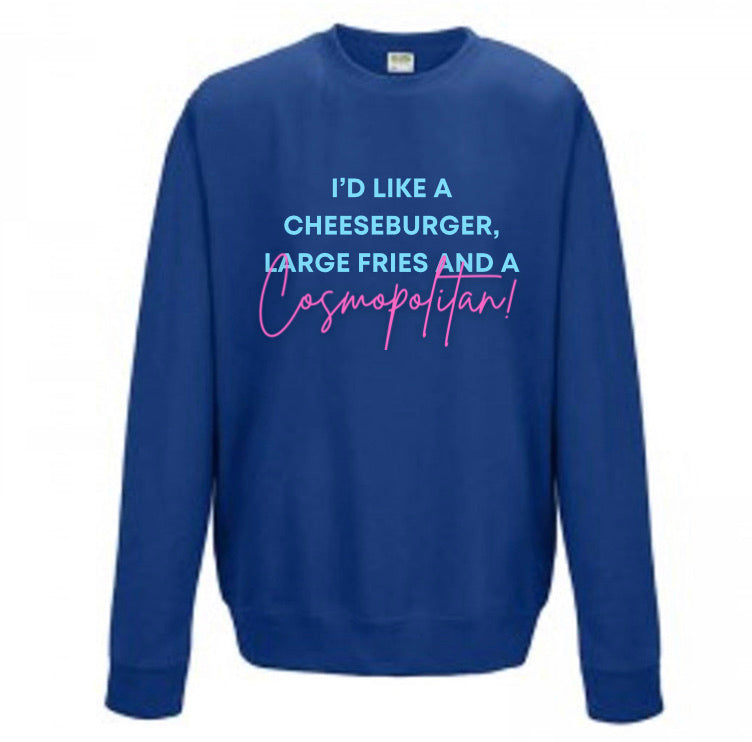 Cosmo Sweatshirt - Available in Royal Blue