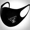 Mini Slogan BLACK Face Mask - COFFEE CLUB SLOGAN