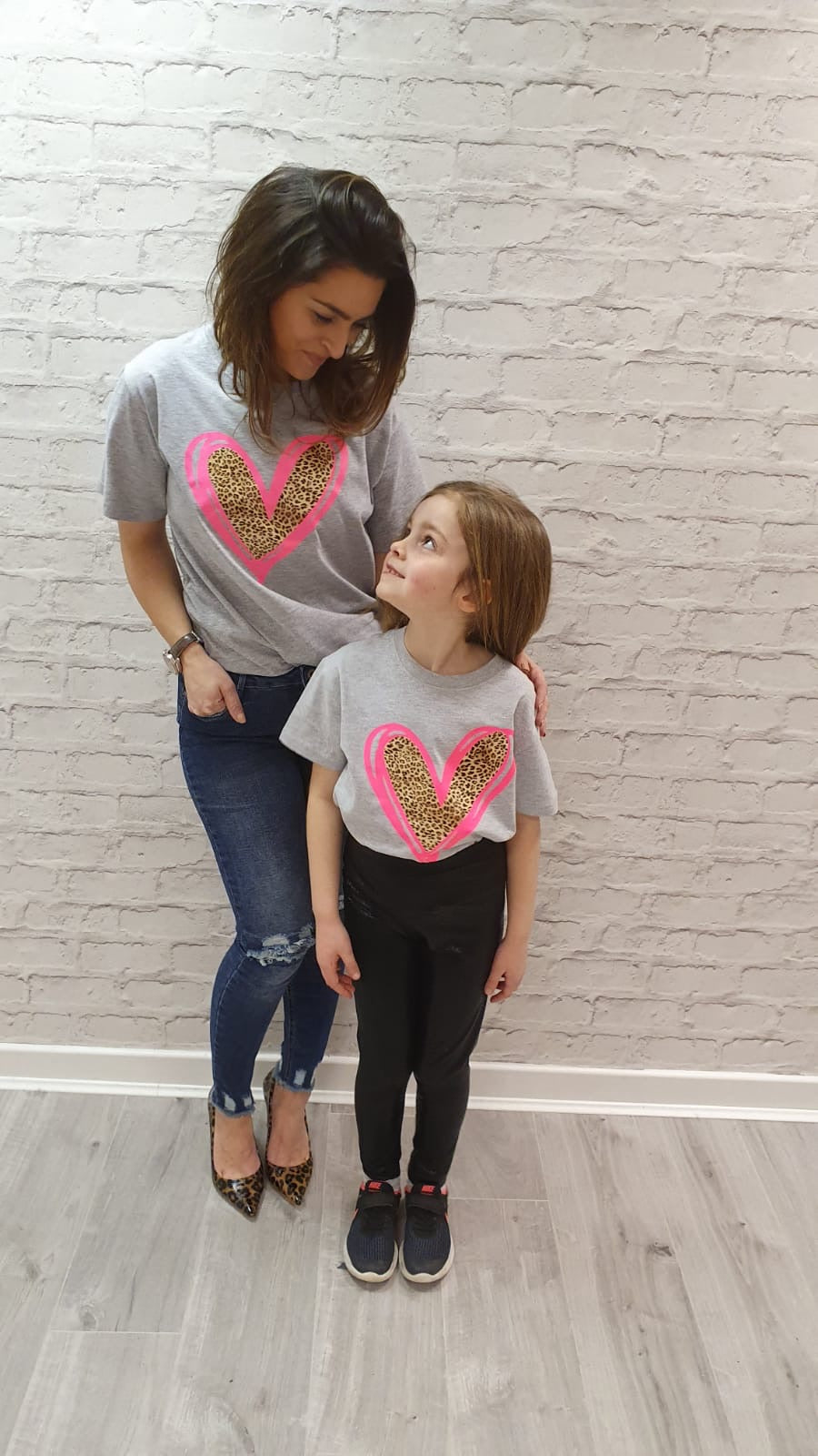 Evelina Mini Heart Tee - Available in Black, White and Grey Tees