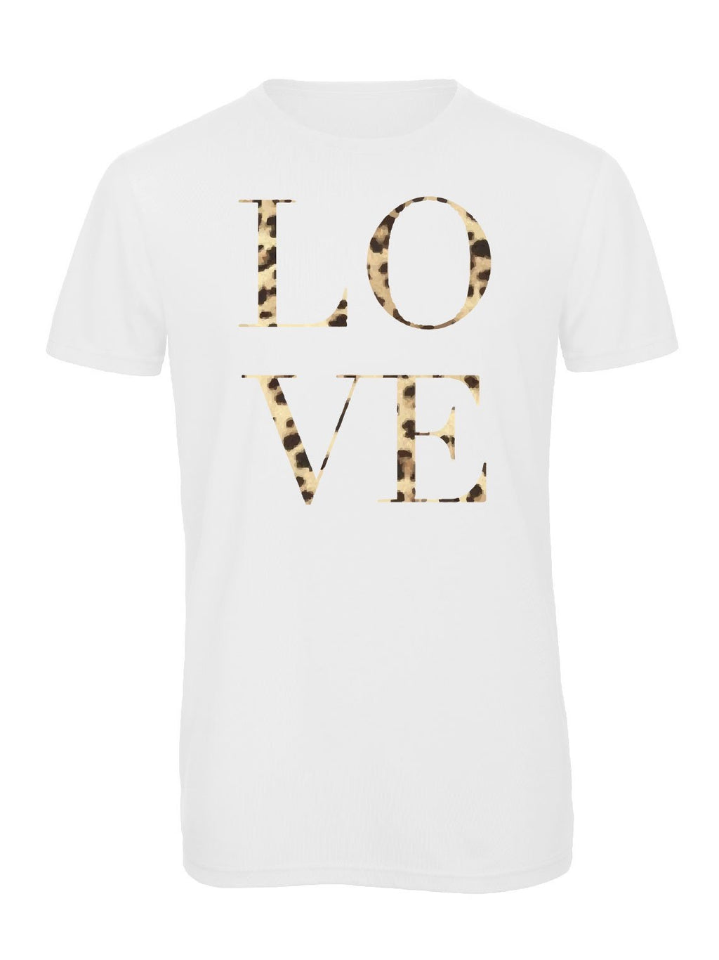 Leopard Love Crew Neck - Available in Black & White Tees
