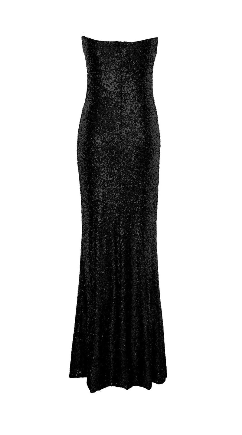 Stella Strapless Sequin Maxi Dress