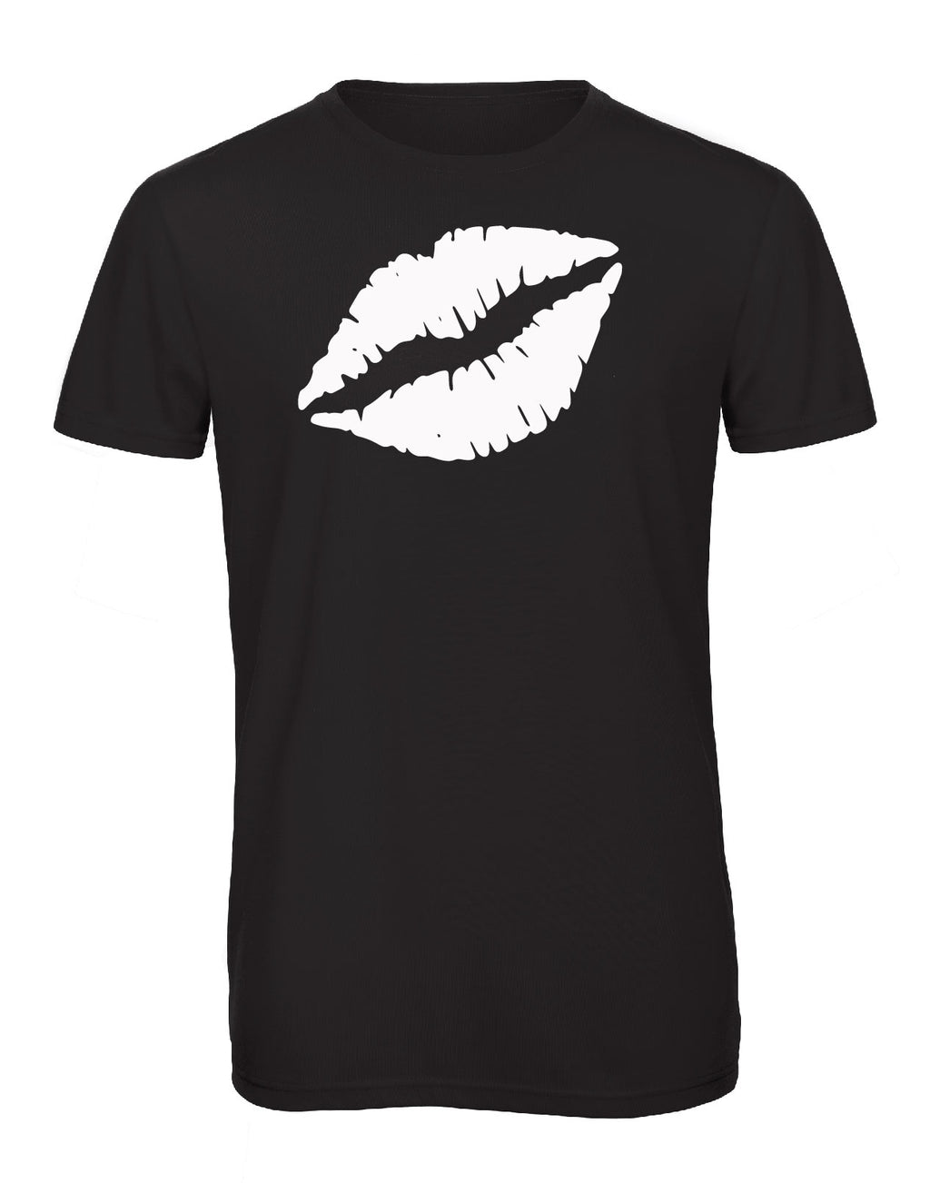 Gem Lips Crew Neck Black - Available in Black and White Tees