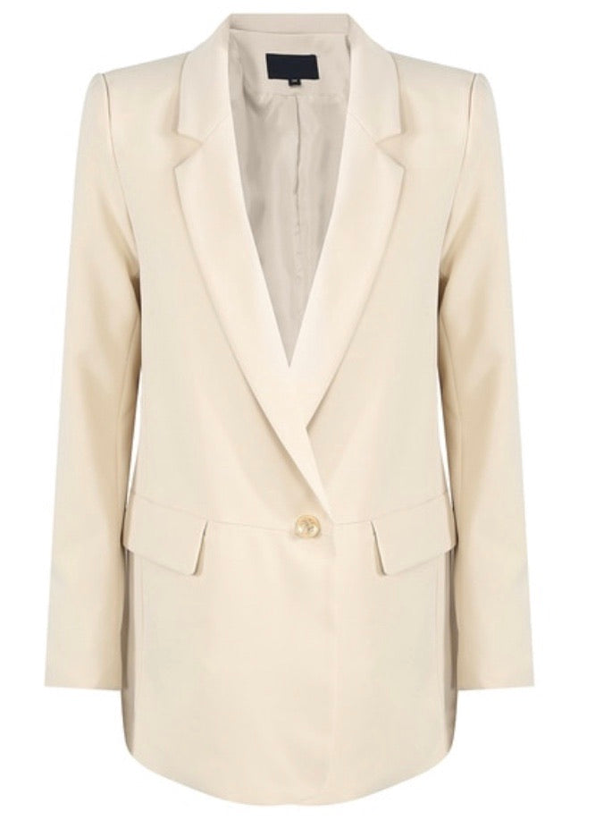 Celine Cream Boyfriend Fit Blazer