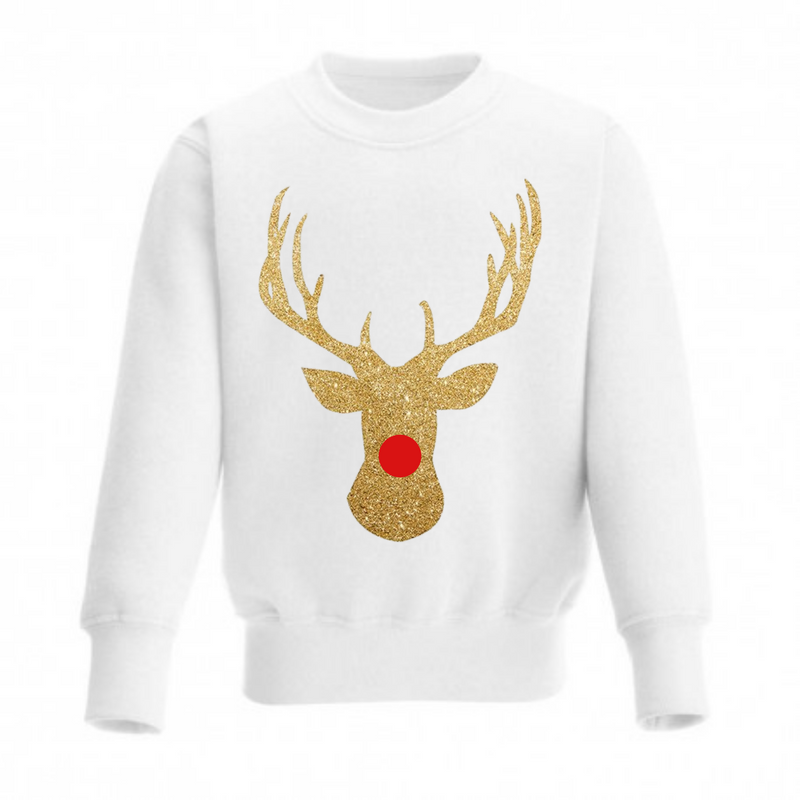 ADULTS Gold Sparkly Reindeer - Available in Black & White