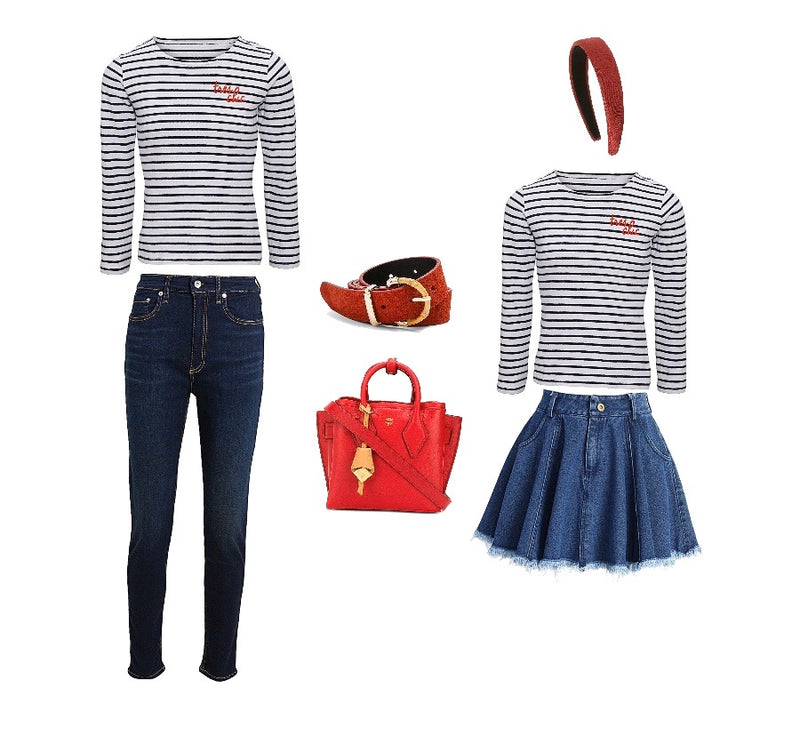 Très Chic Mini Striped Tee