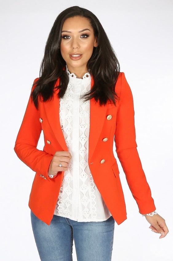 Cali Balmain Inspired Blazer Orange