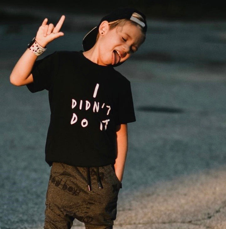 I Didnt Do It MINI Tee - Available in Black and White Tees