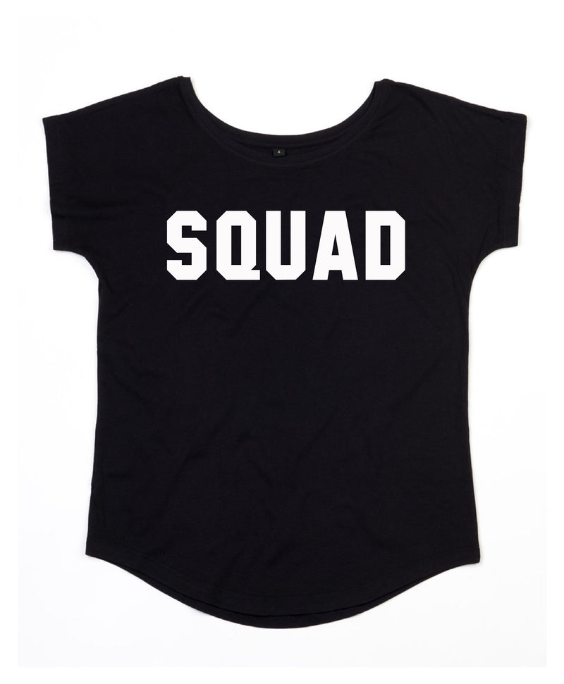 SQUAD Scoop Neckline - Available in Black Tee