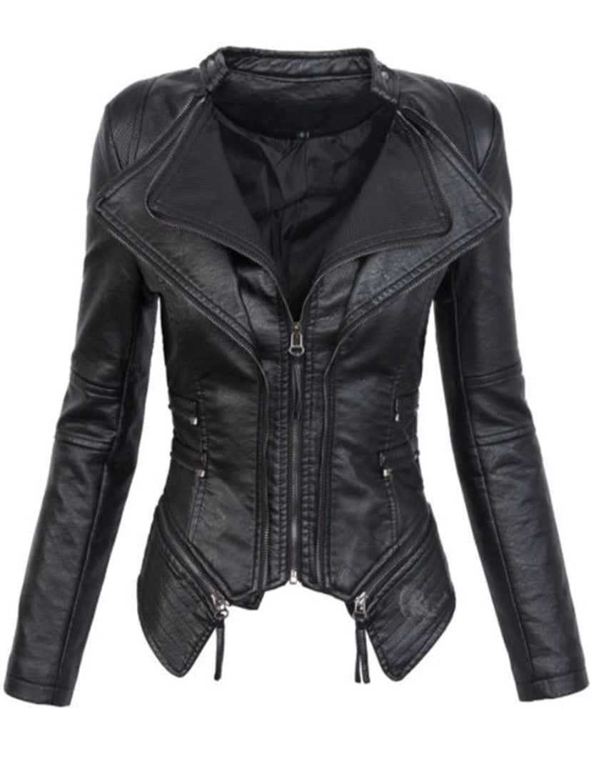 Lorrie Fitted Biker Jacket