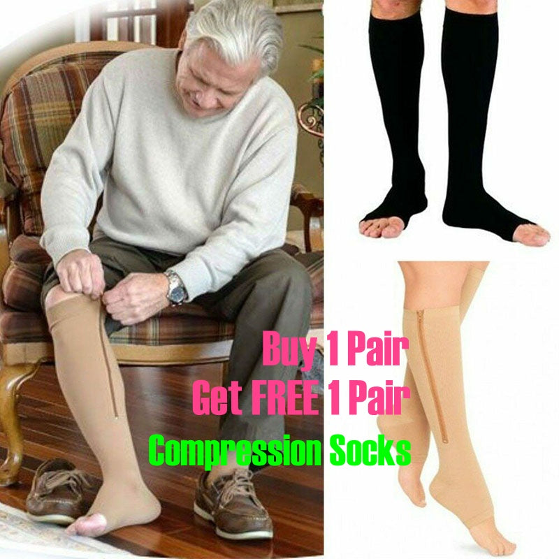 Unisex Compression Socks/ Support Stockings Leg (Buy 1 pair get 1 Pair)